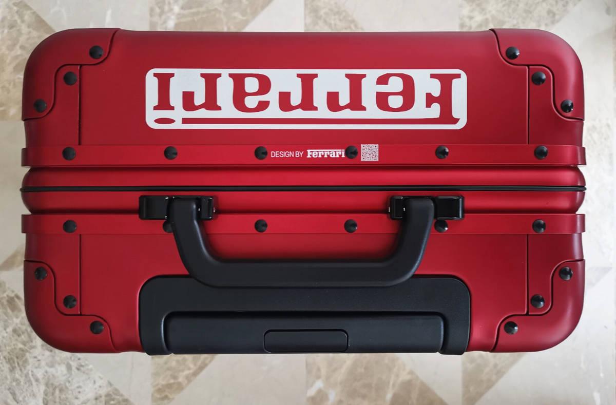 最高峰※Ferrari・オールアルミ・マグネシウム合金・スーツケース/キャリーケース・赤※フェラーリF1チーム用装備_画像4