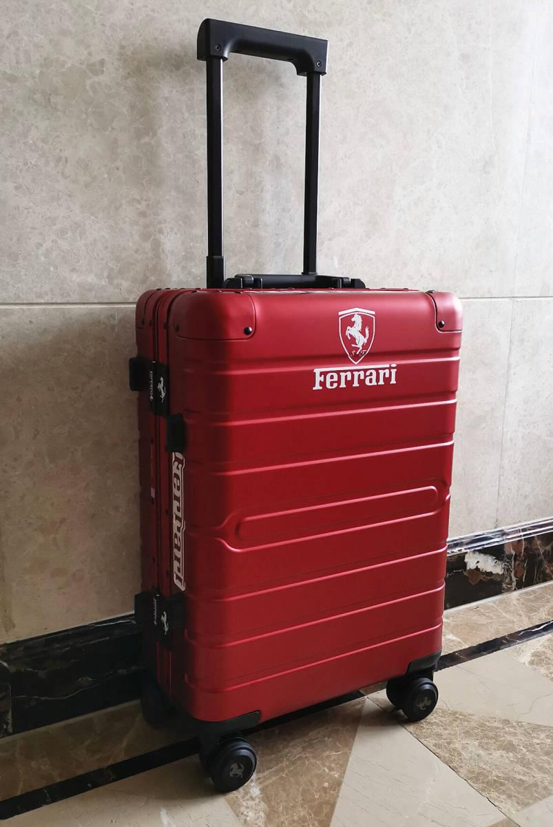 最高峰※Ferrari・オールアルミ・マグネシウム合金・スーツケース/キャリーケース・赤※フェラーリF1チーム用装備