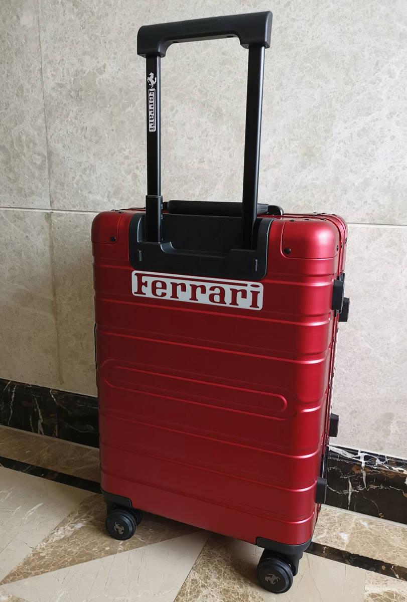 最高峰※Ferrari・オールアルミ・マグネシウム合金・スーツケース/キャリーケース・赤※フェラーリF1チーム用装備_画像3