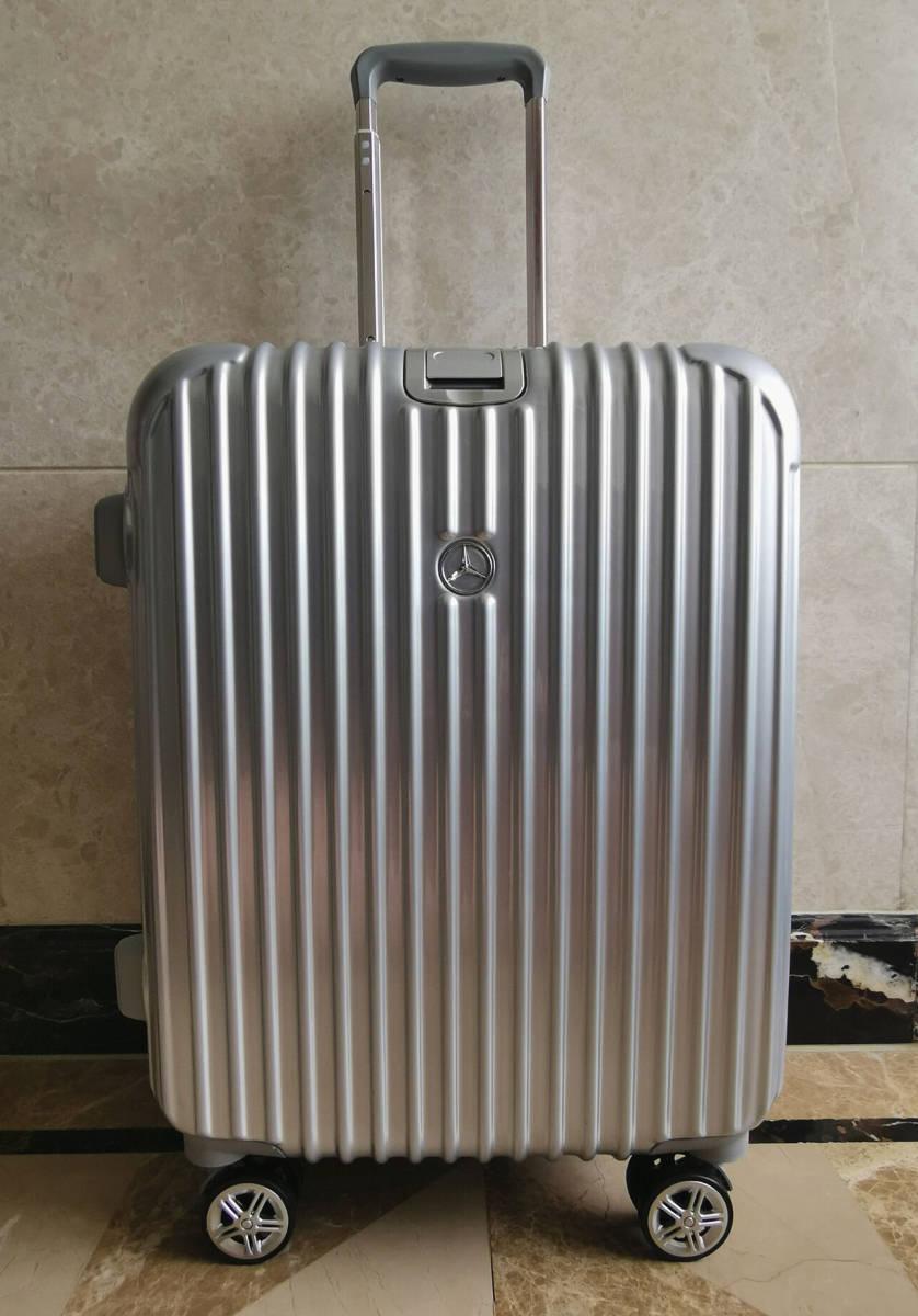 高級※メルセデス・ベンツ/Mercedes-Benz アルミフレーム・軽量/静音・オリジナル・スーツケース・キャリーケース・銀/45L_画像7