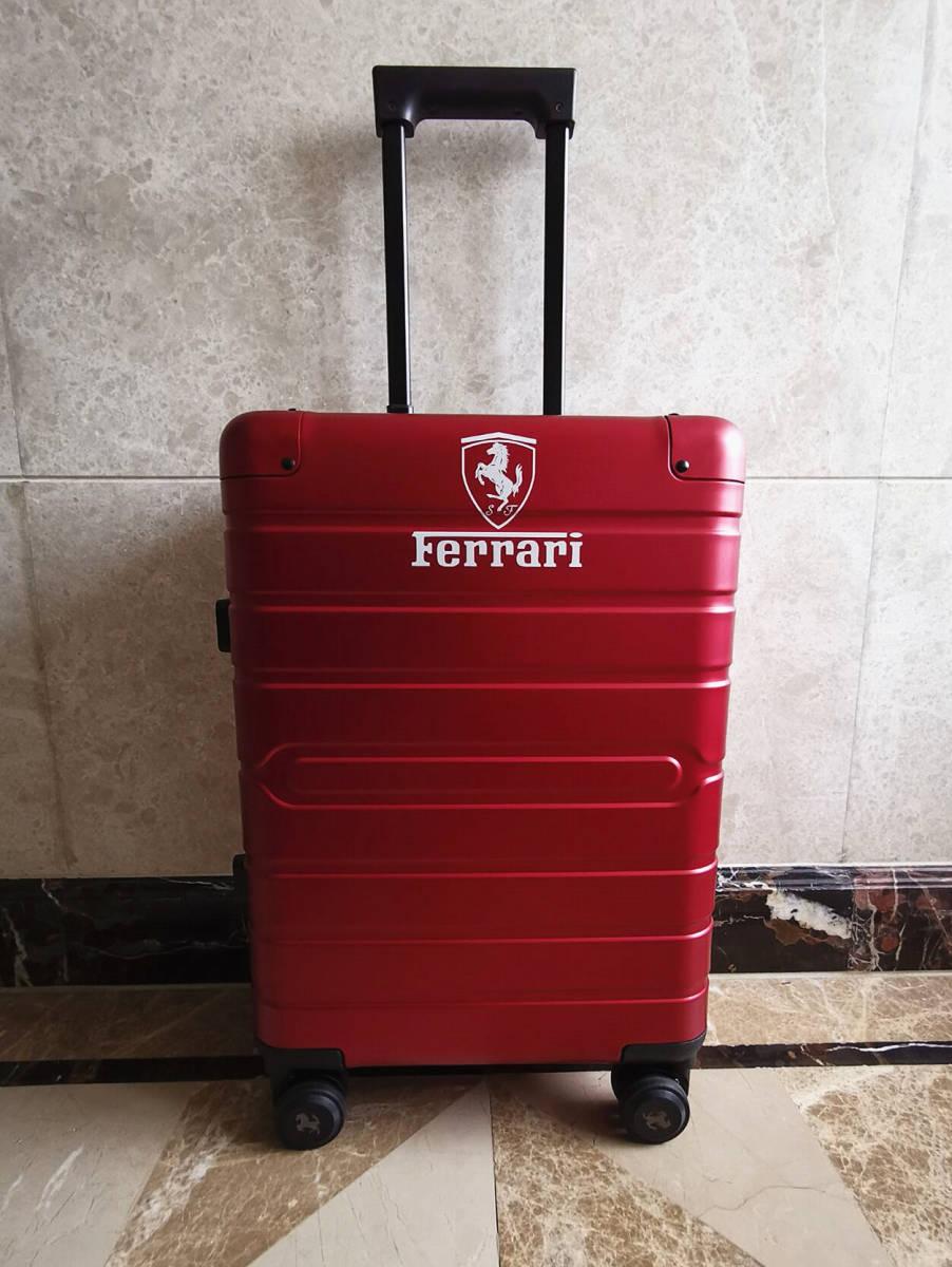 最高峰※Ferrari・オールアルミ・マグネシウム合金・スーツケース/キャリーケース・赤※フェラーリF1チーム用装備_画像2