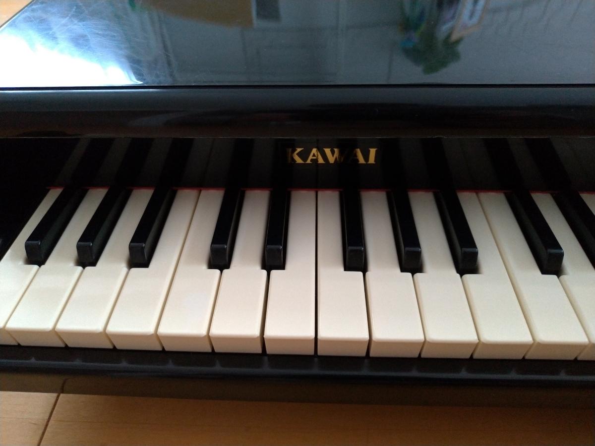 【中古】KAWAI カワイ ミニグランドピアノ  (黒)_画像6