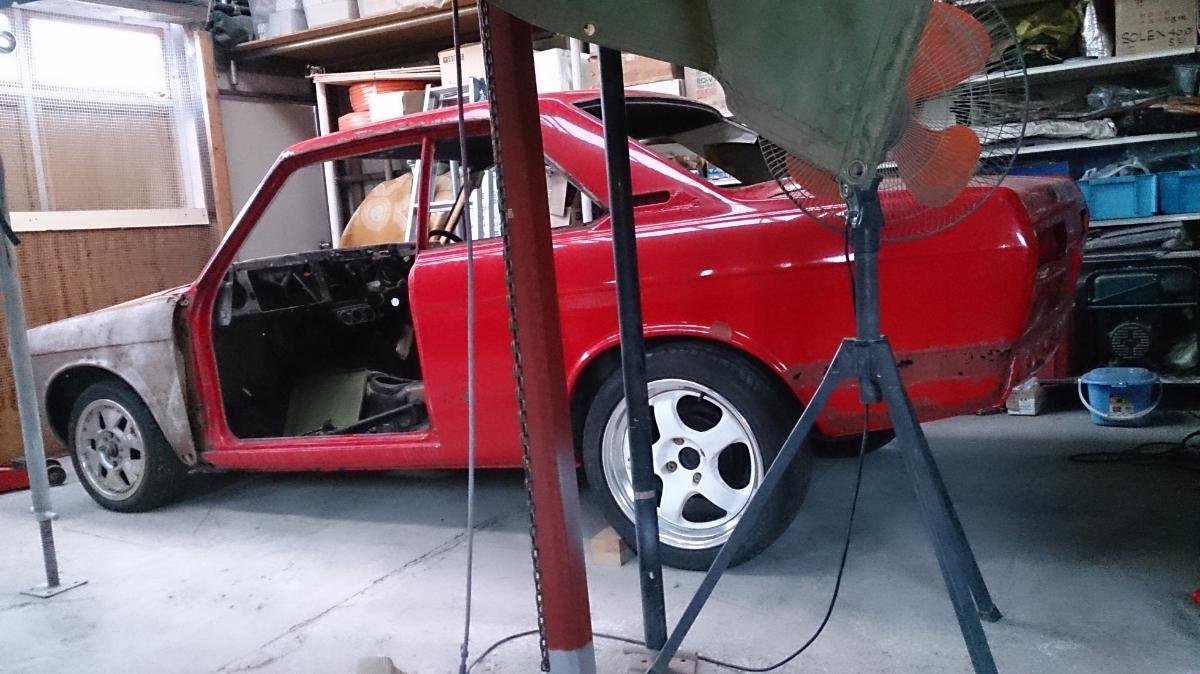 車両購入後は屋根付き室内保管