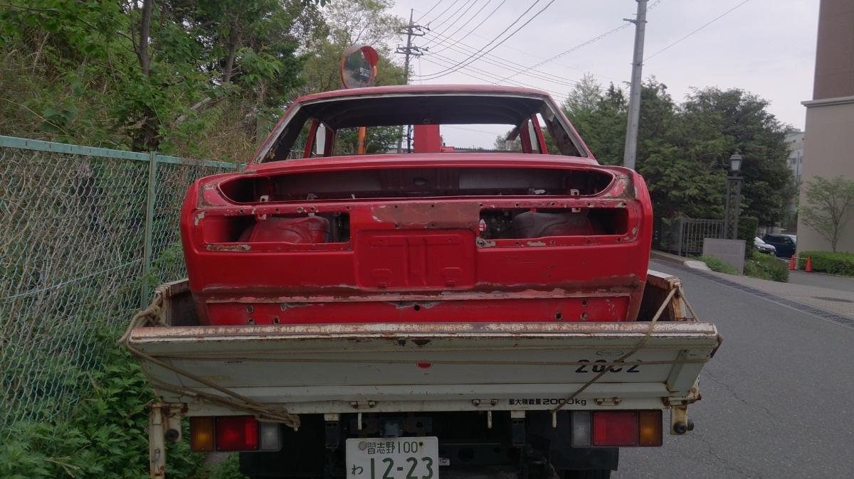510ブルーバード 2ドア クーペ 旧車 レストア ベース車両 ドンガラ 書類付きフレーム KP510 DATSUN510_画像9