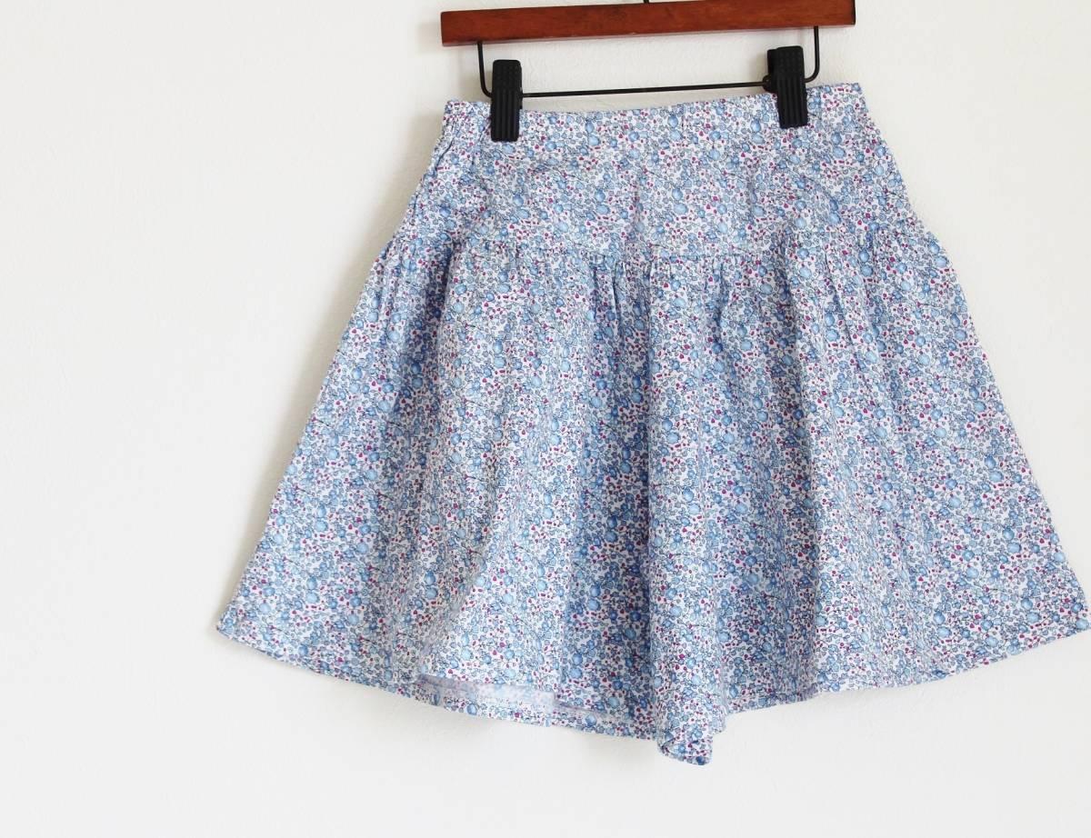 アニエスべー*リバティプリントキュロットスカート10ans(130)美品