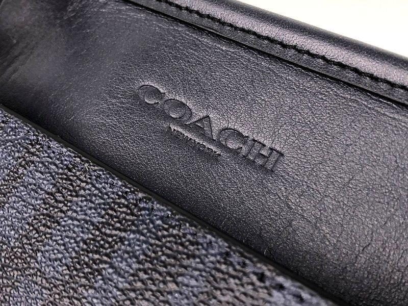 現行モデル☆COACH コーチ メンズ ツイル プラッド チェック レザー ビジネス 2way トート バッグ ◆新品◆_画像8