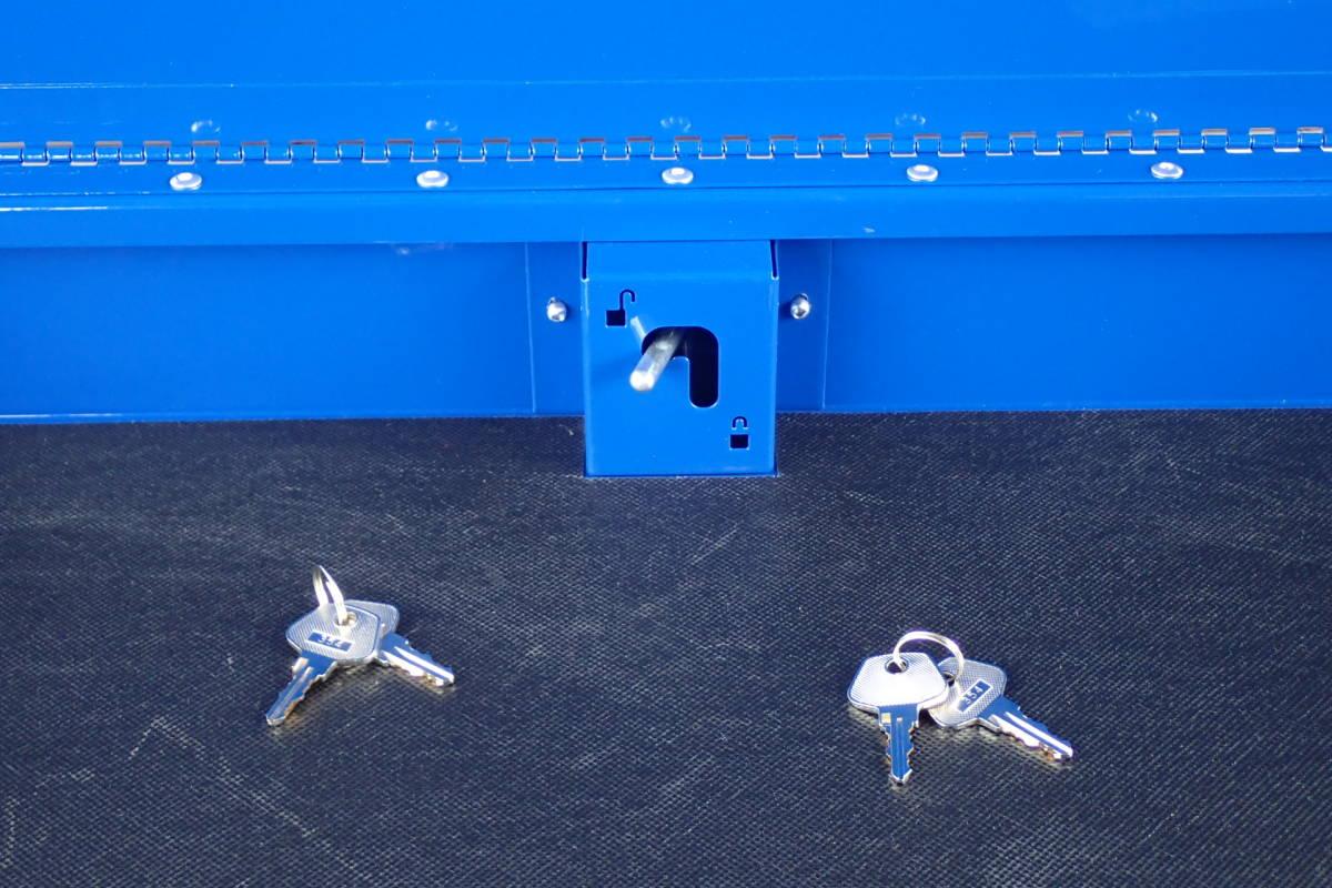 スナップオン ブルーポイント フルベアリング 4引出 サイドテーブル サイドラック 付 ブルー KRBC7TD_画像6