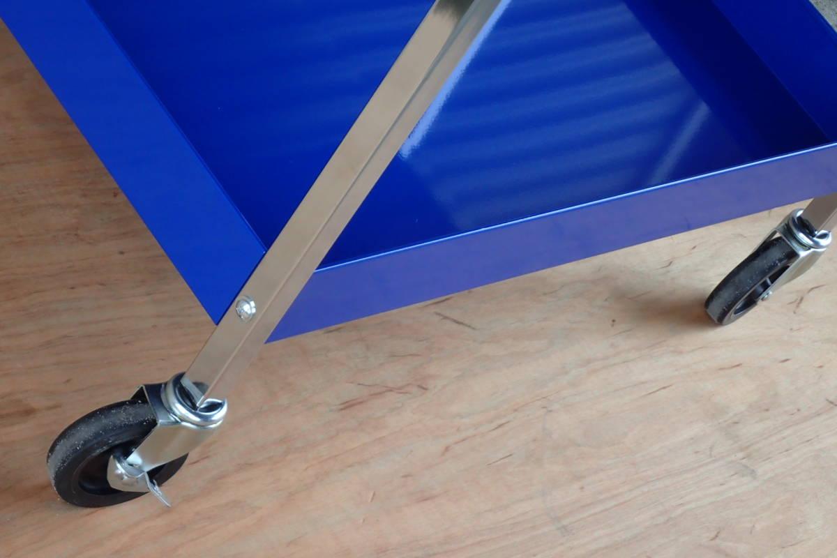 スナップオン ブルーポイント フルベアリング 4引出 サイドテーブル サイドラック 付 ブルー KRBC7TD_画像7