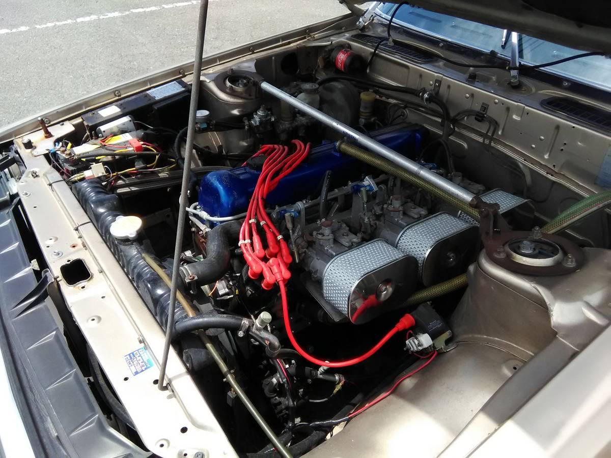 スカイラインジャパン 本物前期 L20改2.4L エアコン 本物シャドー14インチ 車検1年半 DR30ディスク/キャリパー DR30純正LSD GC210 GC211_画像8