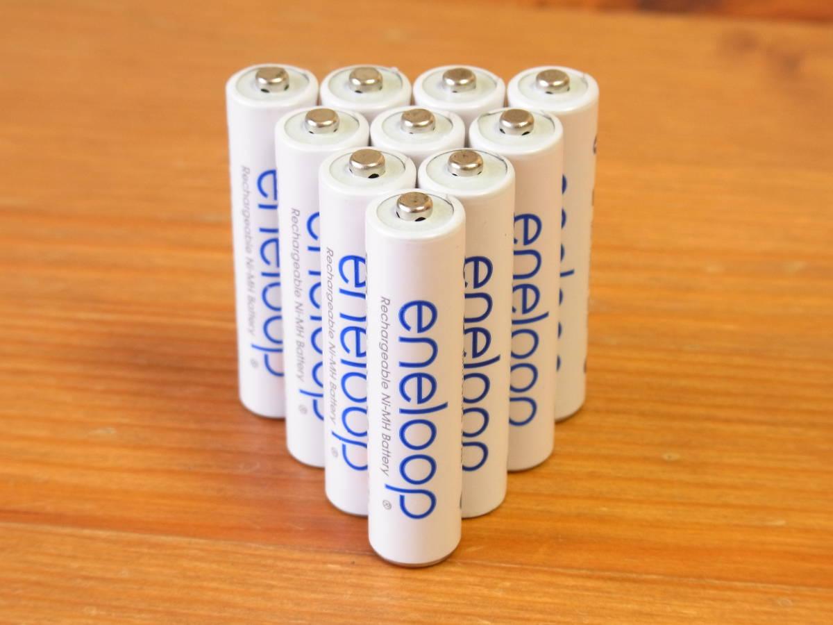 限定 美品 まとめ出品 【SANYO 三洋】 eneloop エネループ 単3形充電池 王冠 10本セット プラレール サイクルライト ヘッドライト 時計 ①