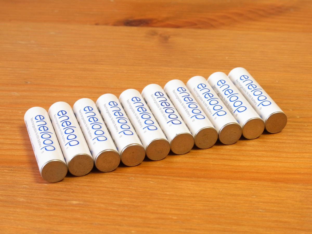 限定 美品 まとめ出品 【SANYO 三洋】 eneloop エネループ 単3形充電池 王冠 10本セット プラレール サイクルライト ヘッドライト 時計 ②_画像6