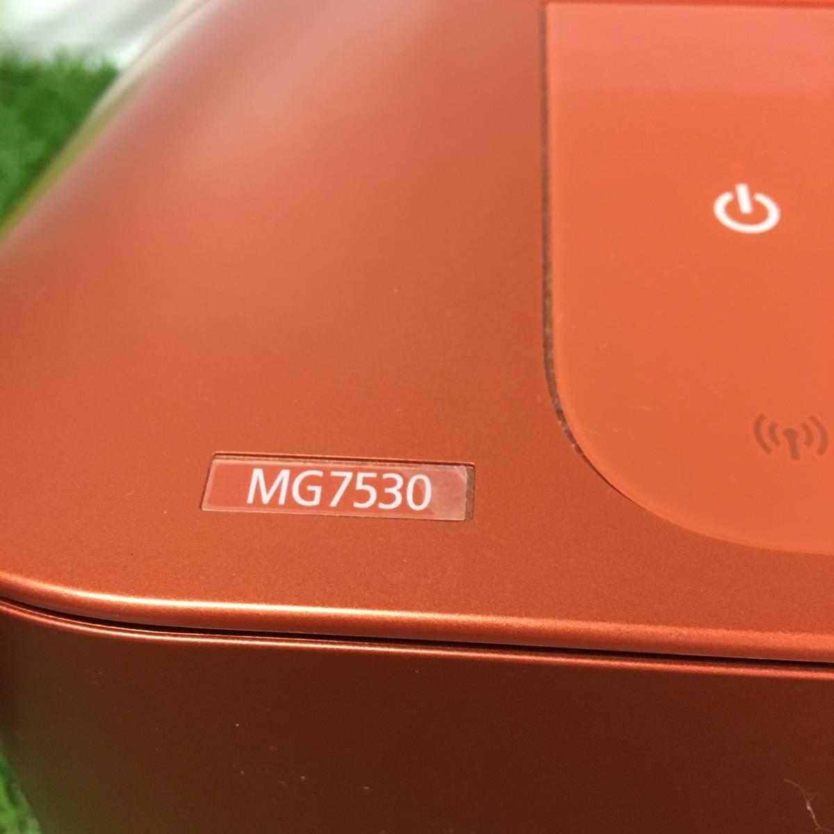 Canon キャノン PIXUS ピクサス インクジェット プリンタ MG7530 オレンジ テスト用紙付 動作確認済_画像4