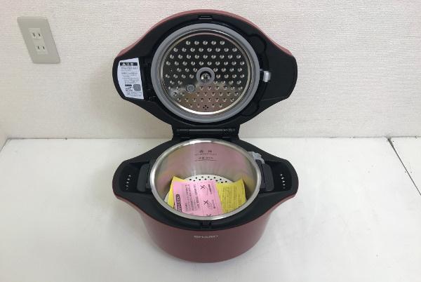【新品未使用開封済】SHARP シャープ ヘルシオ ホットクック 水なし自動調理鍋【KN-HT24B-R】2.4L 大容量 レッド 2016年製 _画像3