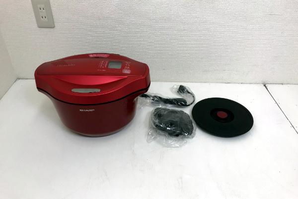 【新品未使用開封済】SHARP シャープ ヘルシオ ホットクック 水なし自動調理鍋【KN-HT24B-R】2.4L 大容量 レッド 2016年製 _画像2