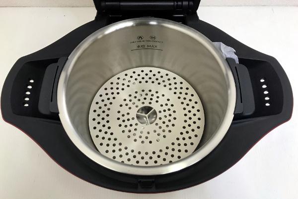 【新品未使用開封済】SHARP シャープ ヘルシオ ホットクック 水なし自動調理鍋【KN-HT24B-R】2.4L 大容量 レッド 2016年製 _画像4