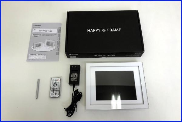 美品 Pioneer パイオニア 8インチ デジタルフォトフレーム【HF-T850-W】HAPPY FRAME ホワイト_画像1