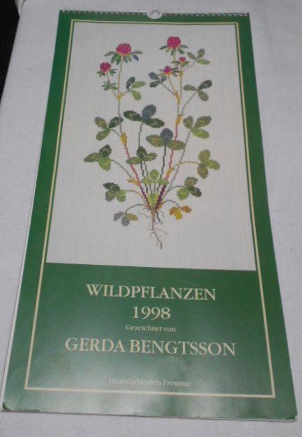 フレメの大型カレンダー 1998年 クロスステッチ図案集 ゲルダ・ベングトソン デンマーク刺繍 Gerda Bengtsson _画像1