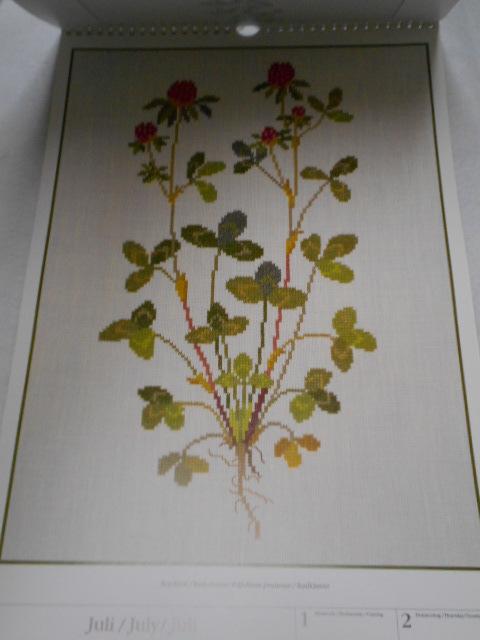 フレメの大型カレンダー 1998年 クロスステッチ図案集 ゲルダ・ベングトソン デンマーク刺繍 Gerda Bengtsson _画像2