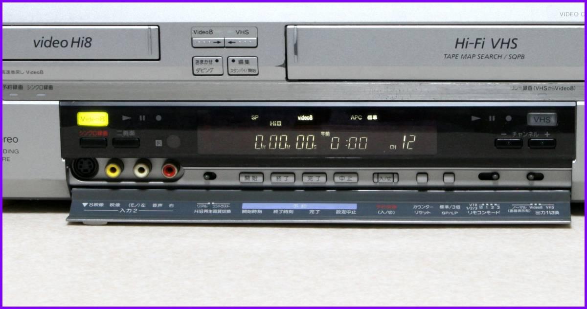 SONY Hi8/VHS Wデッキ 【 WV-BW3 】 専リモCD版説保証付完動品_画像2