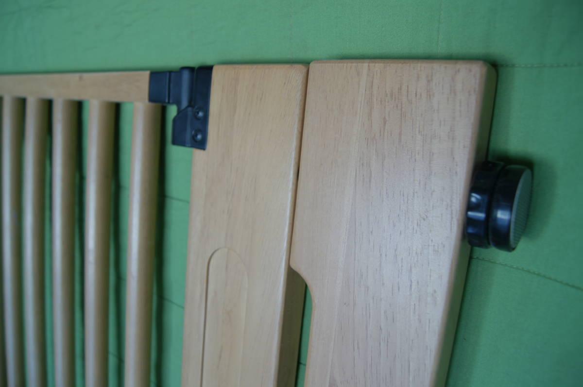 ベビーゲート 木製オートマチックゲイト・デラックス 中古 別売り拡張パネル2枚付属 天然木素材_画像4