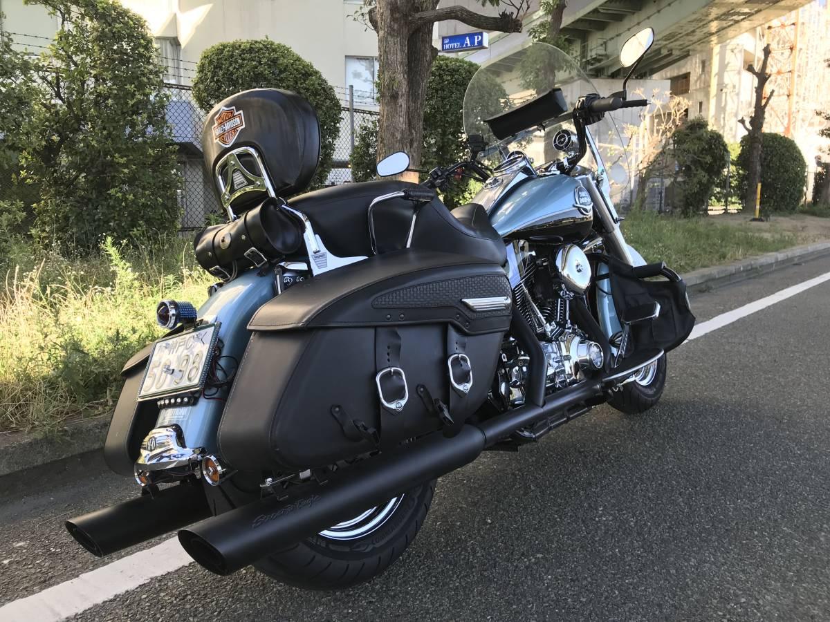 最落無し 2008年モデル ロードキング クラシック オーディオ 安心ABS 爽やかなブルー オートクルーズ機能 FLHRC 車検付 _画像7