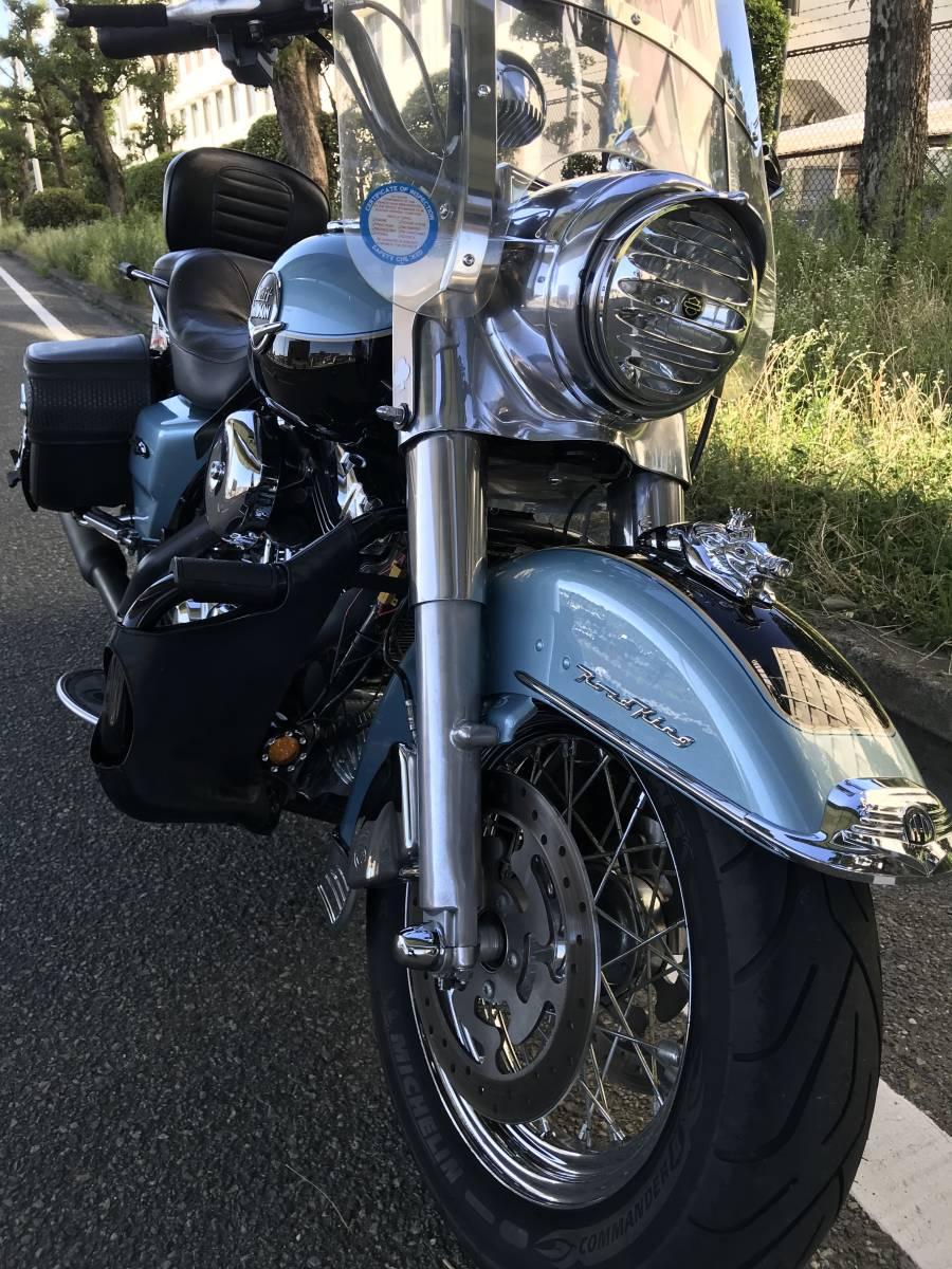 最落無し 2008年モデル ロードキング クラシック オーディオ 安心ABS 爽やかなブルー オートクルーズ機能 FLHRC 車検付 _画像8
