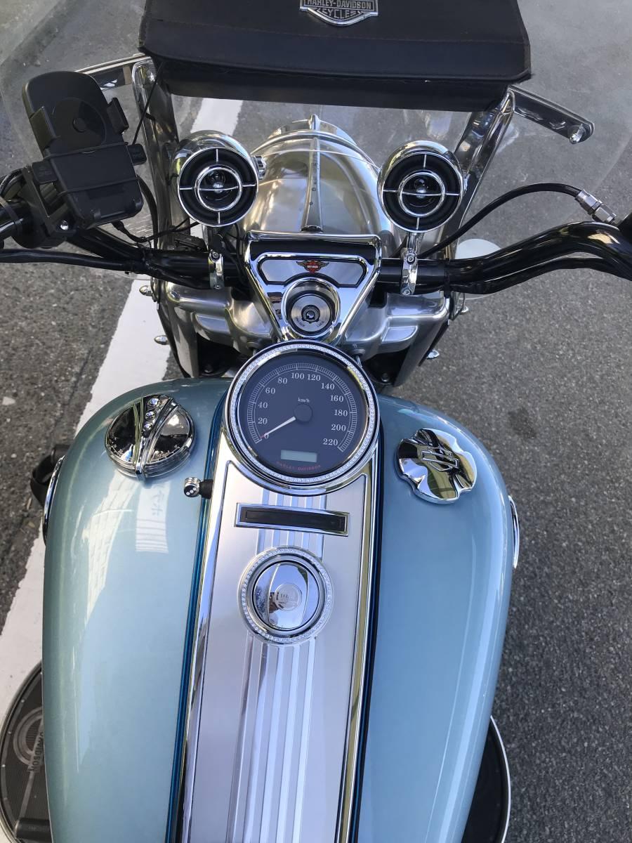 最落無し 2008年モデル ロードキング クラシック オーディオ 安心ABS 爽やかなブルー オートクルーズ機能 FLHRC 車検付 _画像5