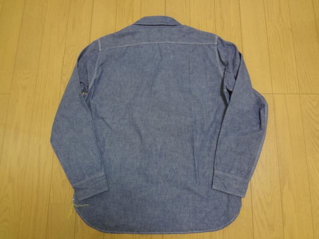 美品 IRON HEART アイアンハート シャンブレーシャツ XLサイズ_画像2