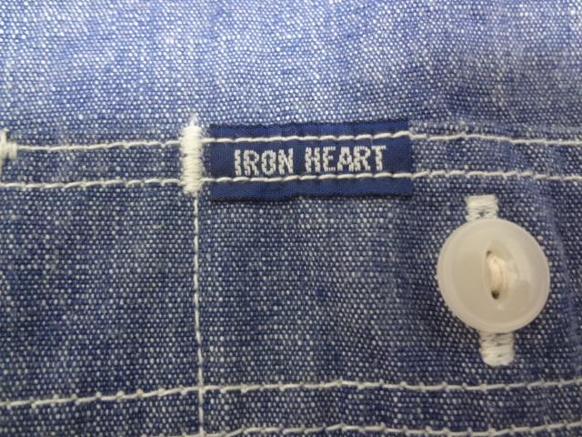 美品 IRON HEART アイアンハート シャンブレーシャツ XLサイズ_画像5
