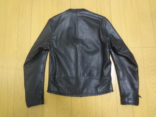 REDMOON レッドムーン 初期 ホースハイド 逆ハ シングル ライダースジャケット Mサイズ 馬革 竜商会 ブラック_画像2