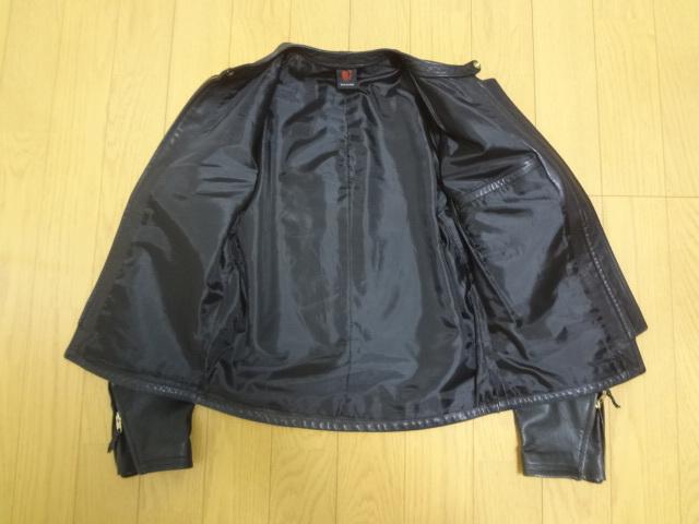 REDMOON レッドムーン 初期 ホースハイド 逆ハ シングル ライダースジャケット Mサイズ 馬革 竜商会 ブラック_画像3