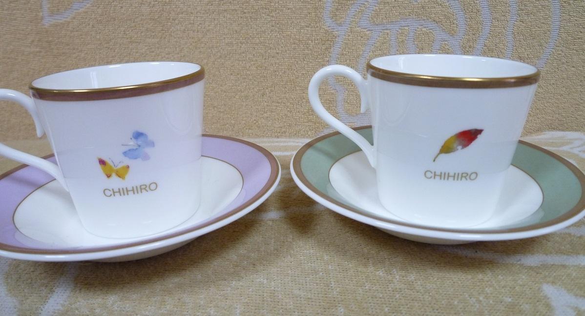 いわさきちひろ デミタスカップ&ソーサー 2種 ナルミ 未使用品_画像2