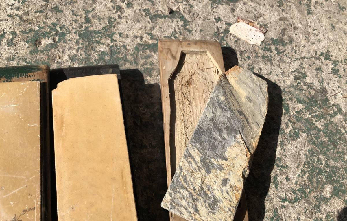 ②古い理容室 砥石 砥石台 大量セット レトロ_画像5
