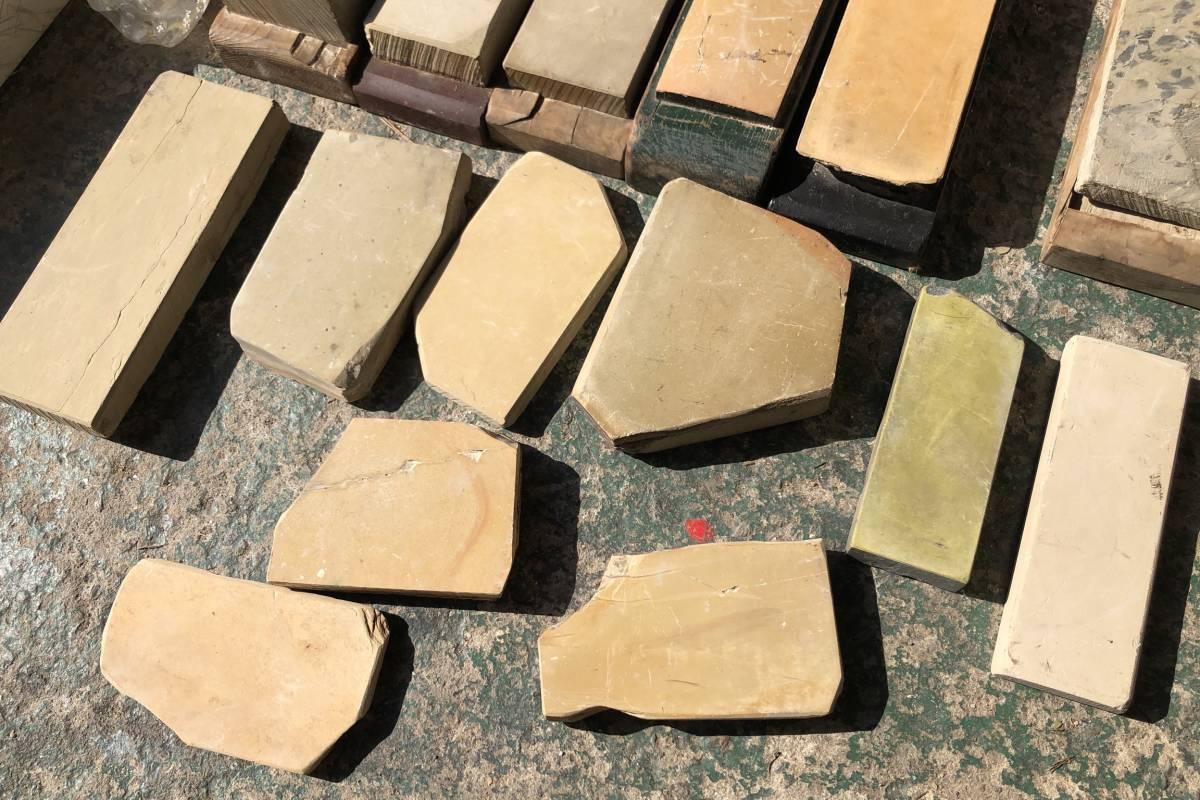 ②古い理容室 砥石 砥石台 大量セット レトロ_画像6
