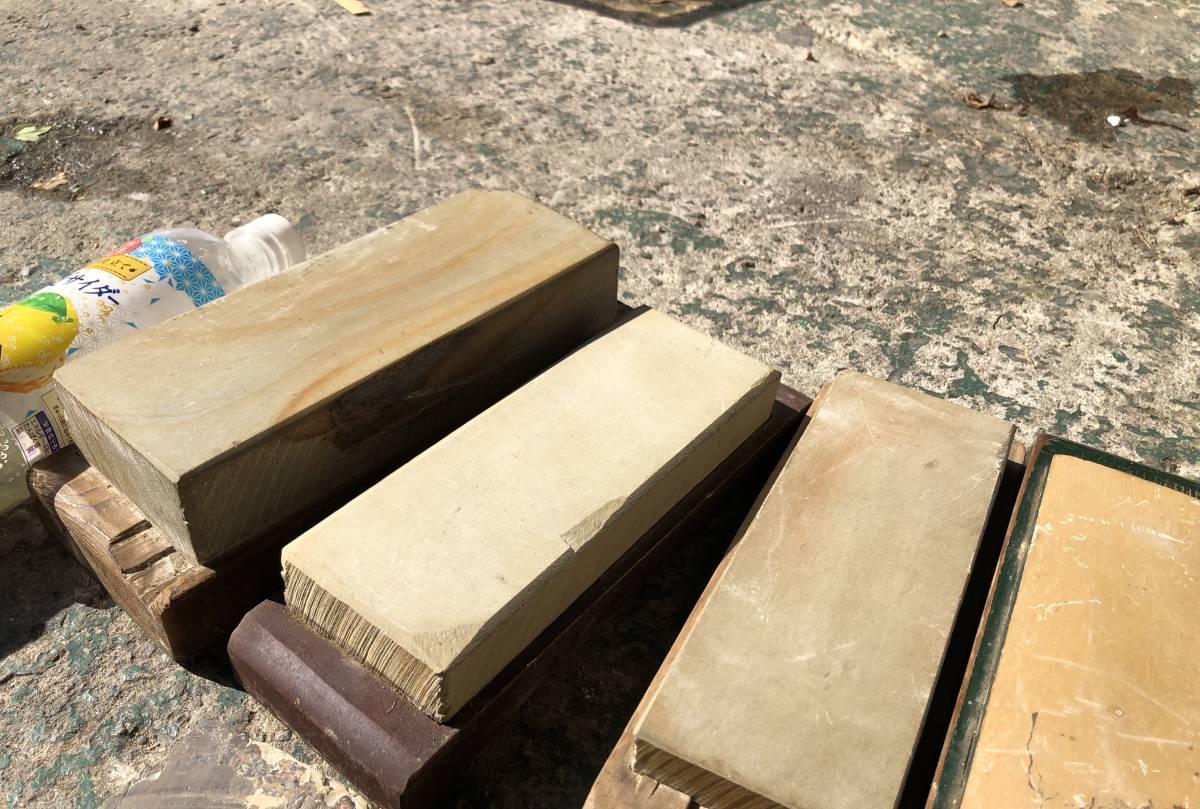②古い理容室 砥石 砥石台 大量セット レトロ_画像3