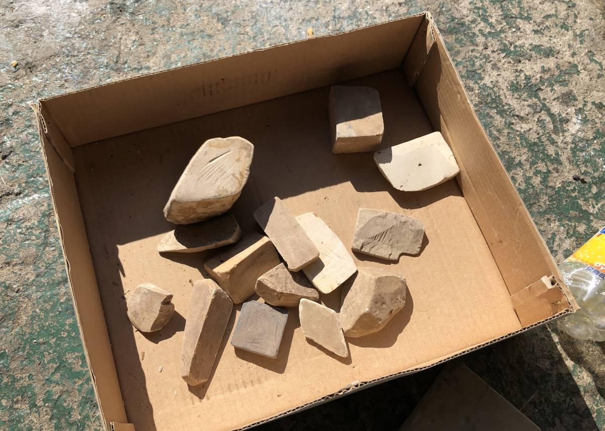 ②古い理容室 砥石 砥石台 大量セット レトロ_画像8