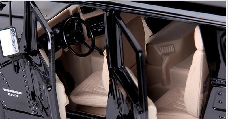 人気合金模型車ミニカーコレクシ1:18ハマーH 1オフロードカー合金自動車スケールブラック新品_画像3