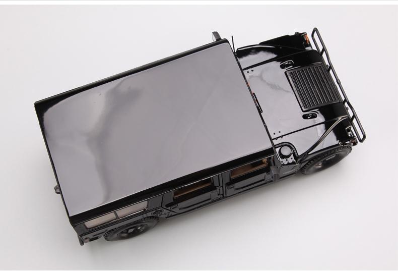 人気合金模型車ミニカーコレクシ1:18ハマーH 1オフロードカー合金自動車スケールブラック新品_画像5