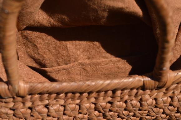 山葡萄手提げ籠バッグ | 高級六角花結び編み | (約)幅32cmx高さ24cmx奥行13cm | 巾着と中布付き ◆再入荷人気商品◆_画像6