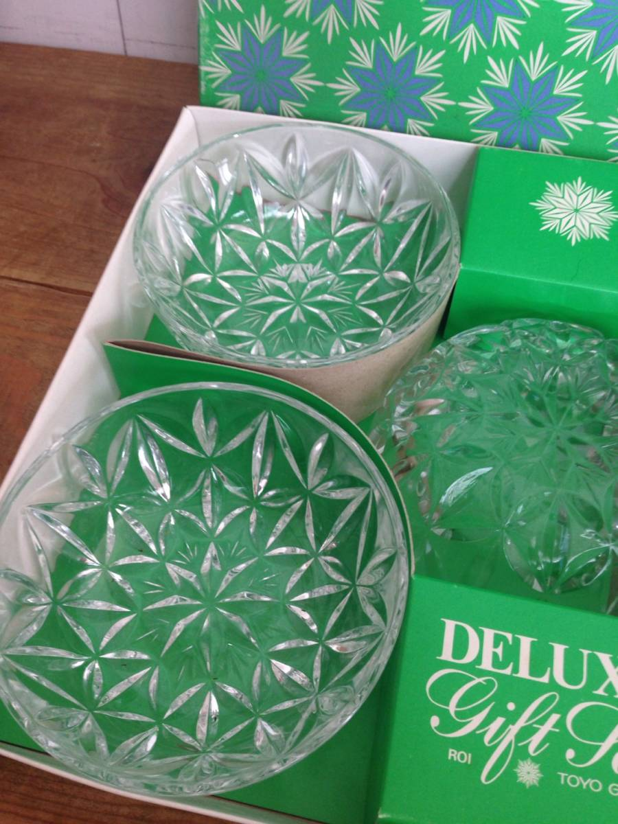 ガラス鉢セット DELUXE gift set TOYO GLASS ロワ向付鉢セット 品番#352-1 東洋ガラス株式会社 未使用品_画像3
