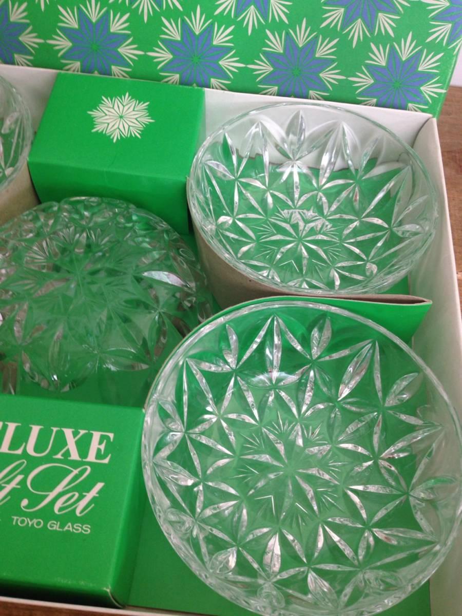 ガラス鉢セット DELUXE gift set TOYO GLASS ロワ向付鉢セット 品番#352-1 東洋ガラス株式会社 未使用品_画像4