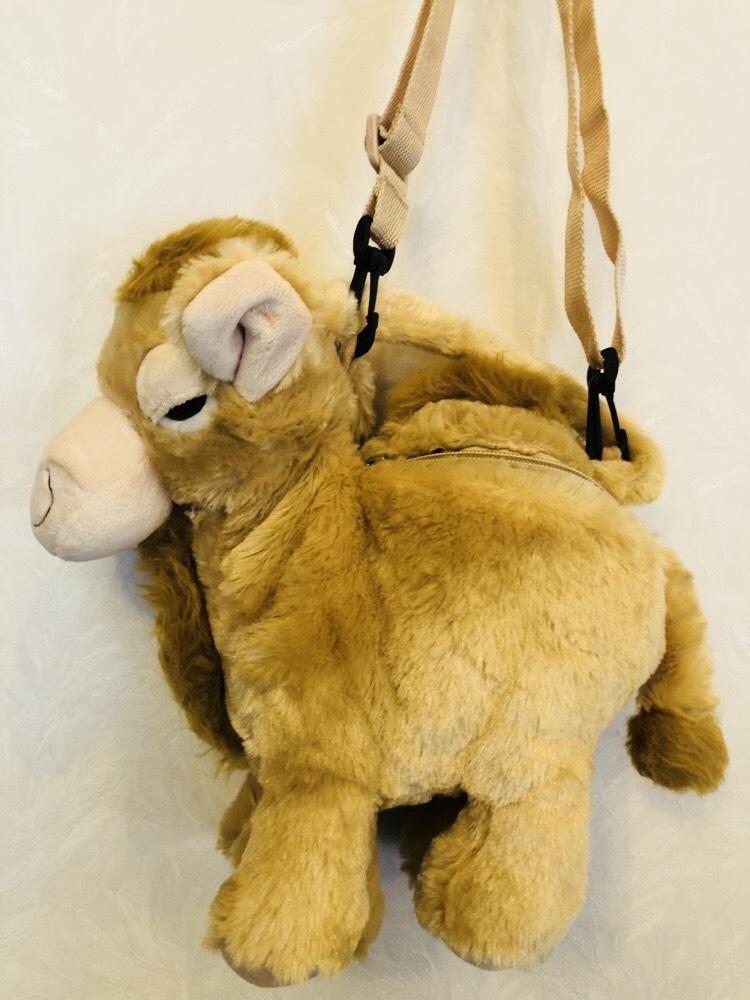 らくだ ラクダ ぬいぐるみ ショルダーバッグ キャメル 子供用ハンドバッグ_画像2