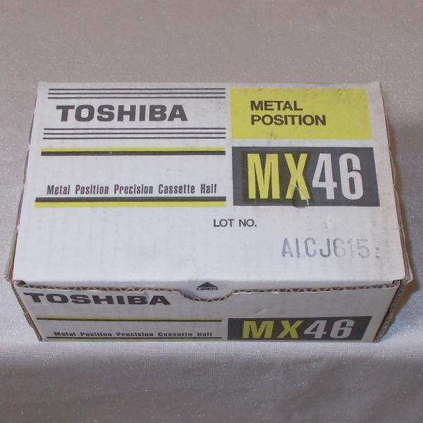 東芝 TOSHIBA メタルテープ MX 46(新品×10)