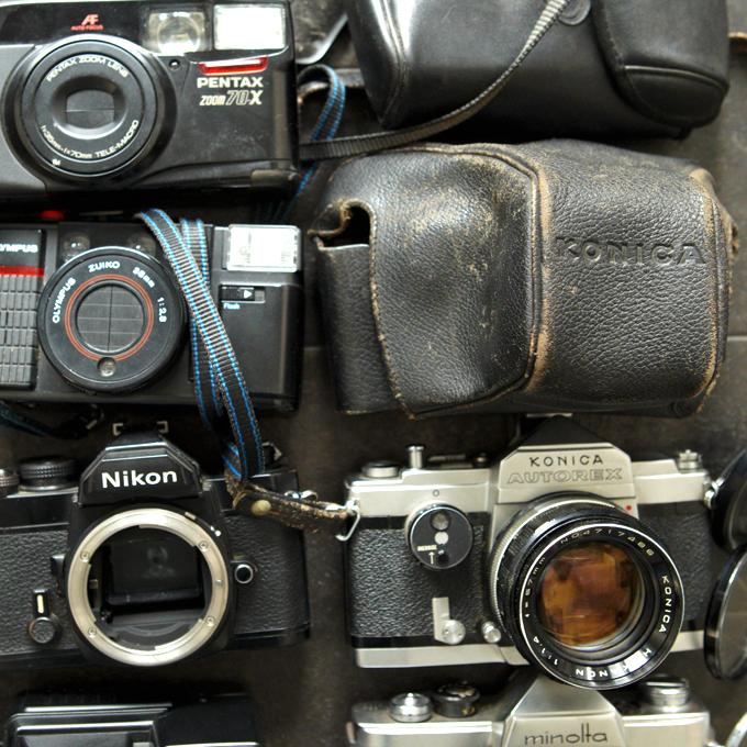 【フィルム一眼 コンパクトカメラ8台!+】Nikon FM KURIBAYASHI 35 Petri PENTAX ME KONICA AUTOREX minolta SR-1 等 ★まとめ売り!_画像2
