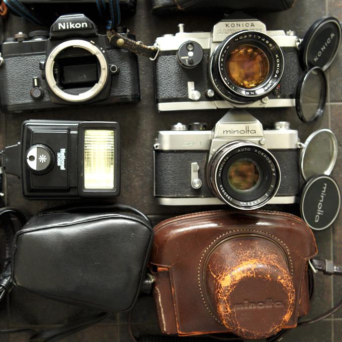 【フィルム一眼 コンパクトカメラ8台!+】Nikon FM KURIBAYASHI 35 Petri PENTAX ME KONICA AUTOREX minolta SR-1 等 ★まとめ売り!_画像3