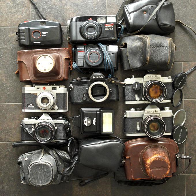 【フィルム一眼 コンパクトカメラ8台!+】Nikon FM KURIBAYASHI 35 Petri PENTAX ME KONICA AUTOREX minolta SR-1 等 ★まとめ売り!