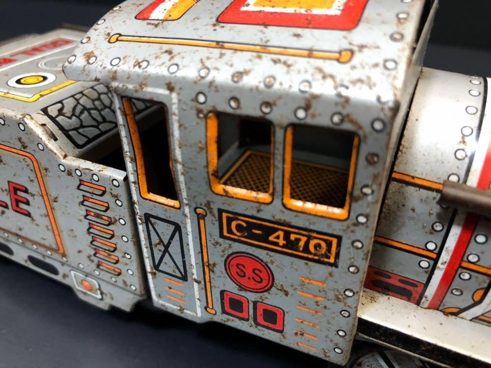 昭和レトロ ブリキ 蒸気機関車 EAGLE C-470 ブリキ製 電車 機関車 おもちゃ 玩具 日本製 当時物 ジャンク品_画像10