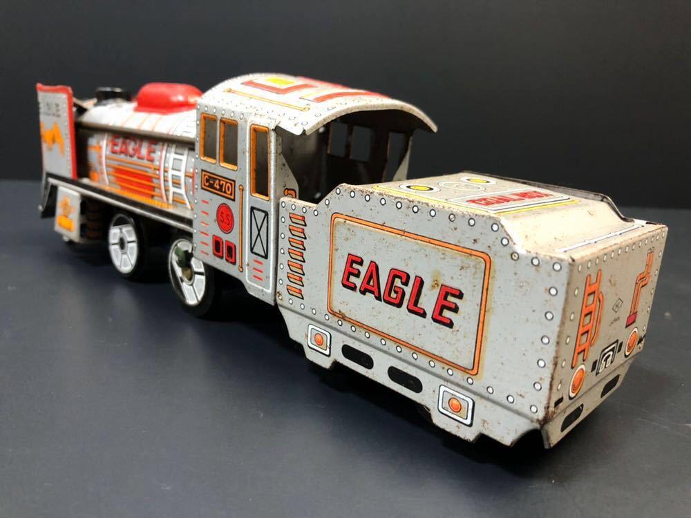 昭和レトロ ブリキ 蒸気機関車 EAGLE C-470 ブリキ製 電車 機関車 おもちゃ 玩具 日本製 当時物 ジャンク品_画像4