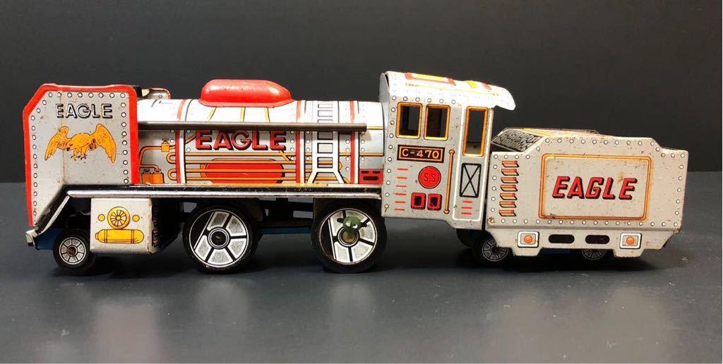昭和レトロ ブリキ 蒸気機関車 EAGLE C-470 ブリキ製 電車 機関車 おもちゃ 玩具 日本製 当時物 ジャンク品_画像6
