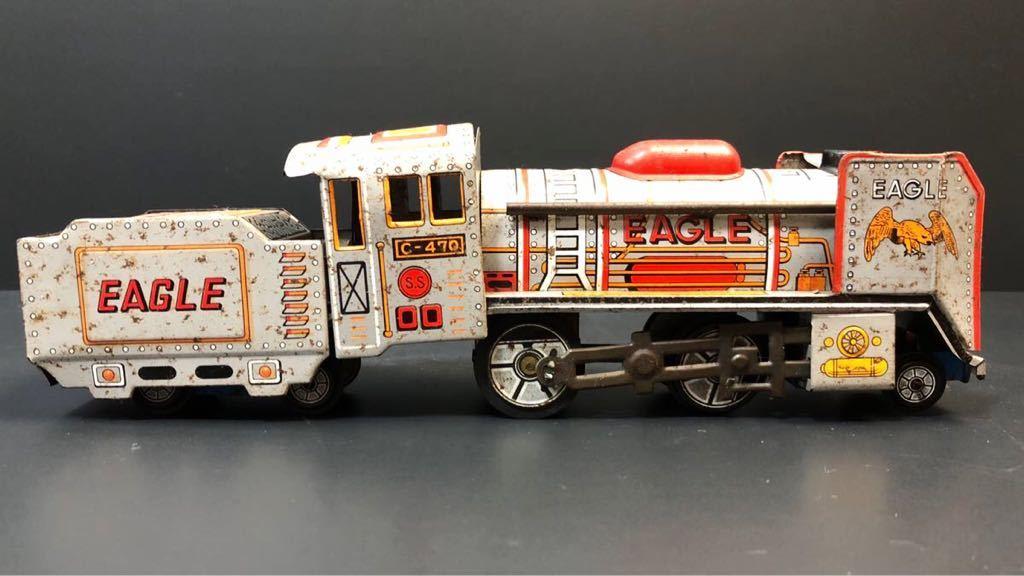 昭和レトロ ブリキ 蒸気機関車 EAGLE C-470 ブリキ製 電車 機関車 おもちゃ 玩具 日本製 当時物 ジャンク品_画像7